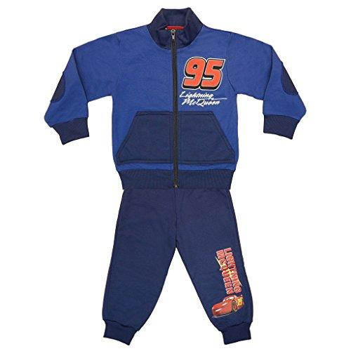 Jungen Cars SPORT-ANZUG GEFÜTTERT zweiteilig, Sweat-Jacke mit langer Hose, GRÖSSE 86, 92, 98, 104, 110, 116, 122, Jogging-Anzug Lightning McQueen,...