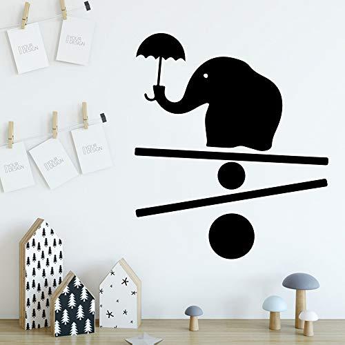 Niedlichen Elefanten Wandaufkleber Dekorative Aufkleber Wohnkultur Für Kinderzimmer Wohnzimmer Wasserdichte Wandkunst Aufkleber Weiß L 43 cm X 50 cm (Bad Etiketten Bomben)