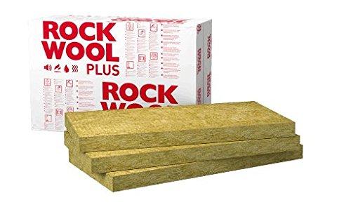 Steinwolle Rockwool 100mm Rockmin Plus WLG 037 10 Stk. Daemmplatten Daemmung Trockenbau