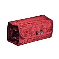 DYHM Travel Storage Box Make Up Cosmetic Case Organizer Bag Case Roll-up Cosmetic Pouch Toiletry Zip Jewelry Wash Makeup Bag (Color : Red)