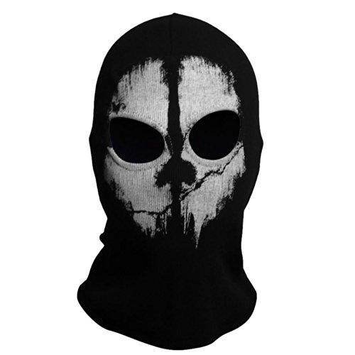 Coxeer® Geister Schädel-Maske Balaclava Hood Ghosts Skull Mask Outdoor Sports Skilaufen Wandern Full Face Mask for Men Maske für Männer (Model 10)