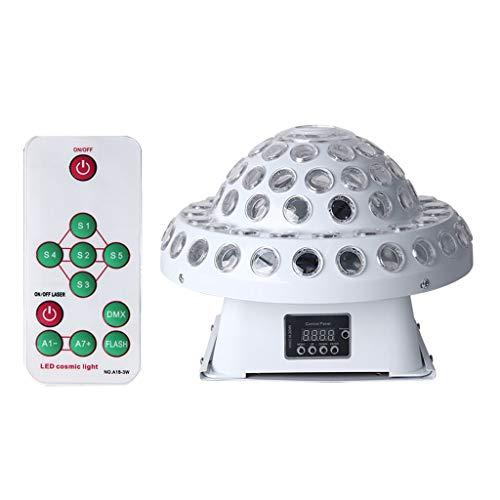 Stage Party DJ Lights 8 Modi Disco Magic Ball LED-Lampe 4 Farben, die Fernbedienung und Soundsteuerung drehen Bühnenlampen (Farbe : A)
