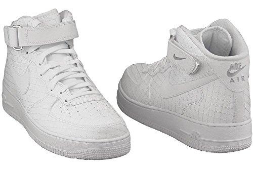 on sale 73322 7903e ... Nike Air Force 1 Mid '07 Lv8, espadrilles de basket-ball homme Blanc