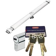 Abus Cruzado 2700W blanco, con xp20s Cilindro, con 4 llaves y tarjeta de Seguridad