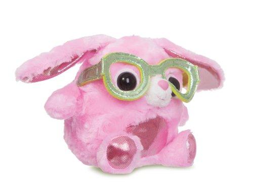 Gumdops Sorbet Hase mit cooler Nerd Brille 12.5 cm, rosa (Niedliche Nerds)