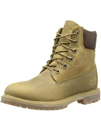 Timberland Af 6In Prem Annivrsr Yellow - Botas tacón, Color Amarillo (Wheat Burnished)