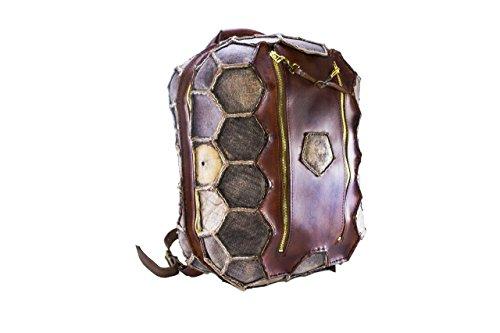 Zaino in pelle marrone, viaggio, tempo libero, borsone in cuoio, cucito a mano, sacca, porta pc, valigia in pelle, borsa con manici