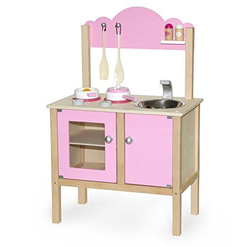 Vortigern V51032 - Juguetes de Cocina - Cocina Rosa con Accesorios