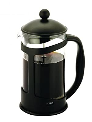 6 Cup Glass Coffee Maker Plunger French Press Cafetiere Pot Jug - Black from Zodiac