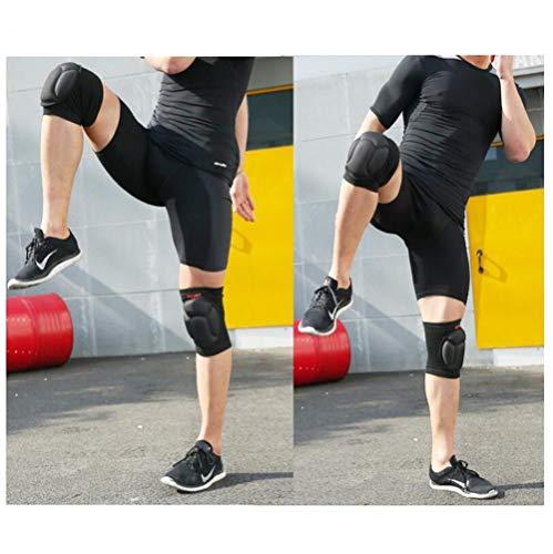WJH9 Anti-Kollision Sponge Thickening Sports Knie-Pads, Torhüter Squatting Basketball Climbing Sponge Protection Knie-Knie-Knie-Pads, Professional Fitness Compression Knee Support (Zwei Stücke)