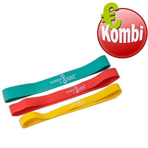 Dittmann Rubber Band 3er Kombi Expander Widerstandsbänder Gymnastikband