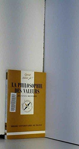 La philosophie des valeurs par Jean-Paul Resweber