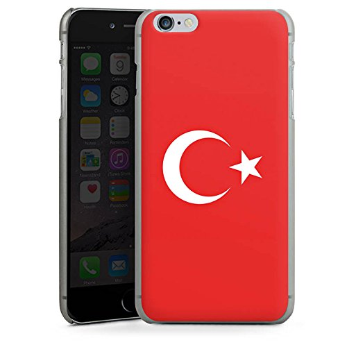 Apple iPhone X Silikon Hülle Case Schutzhülle Flag of Turkey Türkei Flagge Türkiye Hard Case anthrazit-klar