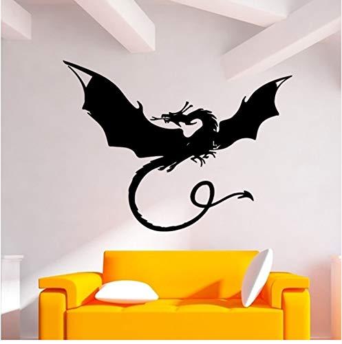 Lsfhb Drachen Mythos Film Fantasy Monster Cool Kid Schlafzimmer Wandaufkleber Vinyl Schablone Wandhauptdekor Artisitc Dekorationen43X68 Cm (Coole Halloween Schablonen)