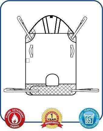 Mackworth imbragatura universale classico paranco con supporto per la testa e gli allegati di loop (extra extra extra large, poliestere trapuntato)