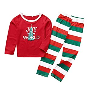 Kanlin1986 Pijamas De Navidad Familia, Ropa De Noche Homewear AlgodóN Camisas De Manga Larga + Pantalones Largos… 14