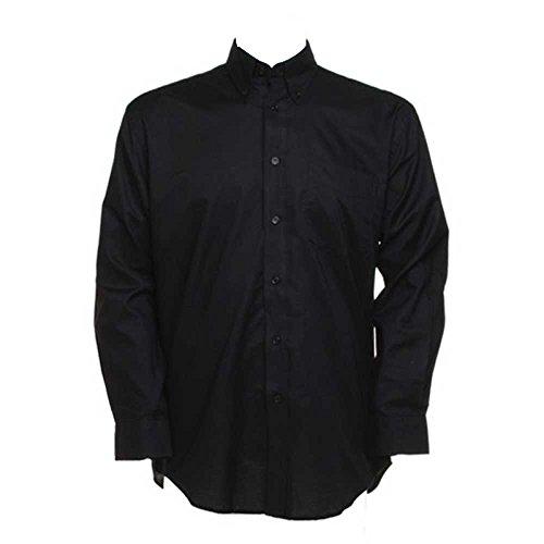 Kustom Kit Mens Workwear Oxford Long Sleeve Shirt Black