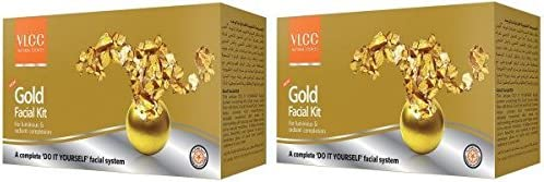 Vlcc Gold Facial Kit 2 X 40 g, Pack of 2