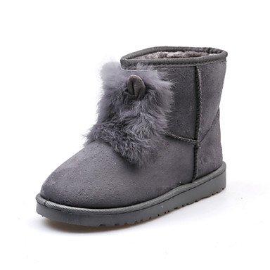 RTRY Scarpe Da Donna In Pelle Nubuck Autunno Inverno Lanugine Fodera Comfort Novità Snow Boots Fashion Stivali Stivali Tacco Piatto Round Toe Stivaletti/Caviglia US8 / EU39 / UK6 / CN39