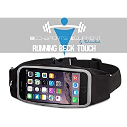 Unidad Cinturón Riñonera Hombre y Mujer de Beck Sports Running Beck Touch | Riñonera con compartimento impermeable | para smartphone, dinero & Llave | unidad funda para deporte y ocio