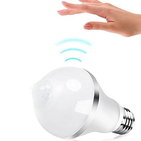 flintronic Ampoule LED E27 7W, PIR Infrarouge Détecteur de Mouvement