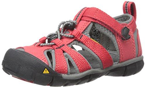 Keen Unisex-Kinder SEACAMP II CNX Sandalen Trekking- & Wanderschuhe, Rot (Racing Red/Gargoyle), 29 EU