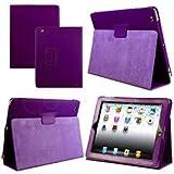 Custodia magnetica smart, con proteggi schermo, per Apple iPad 4/iPad 2/iPad 3, 2°, 3° & 4° generazione viola