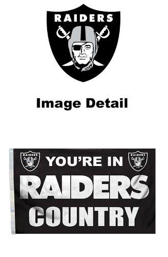 LA Auto Gear Oakland Raiders NFL Team Logo House Home Office Garage Street Outdoor Innen-Flagge Banner mit Tüllen-3'x 5'-You 're in Raiders Land