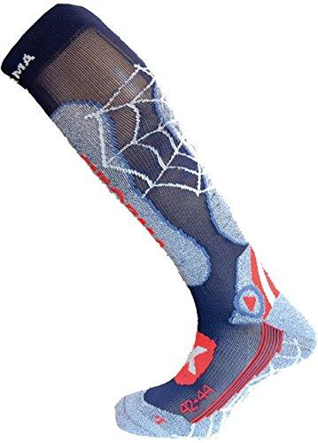 enforma Herren Ski Pro Kompression Metall Socken, Herren, Ski Pro Compression Metal, blau (Metall-ski-socke)