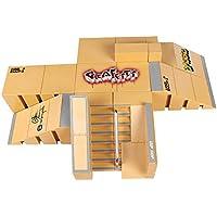 Creation 8PCS Skate Park Kit Ramp Parts para Finger Skateboard Ultimate Sport Training Props