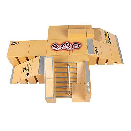 Creation® 8PCS Skatepark Kit Ramp Teile für Tech Deck Finger Skateboard ultimative Sport Sporttraining Props