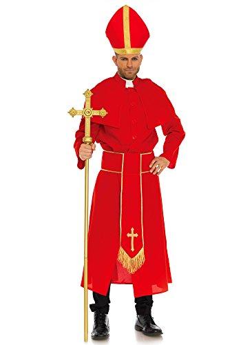 Leg Avenue Cardinal Kostüm, rot, Größe: Medium (EUR (Hut Kostüm Rotes Kardinal)
