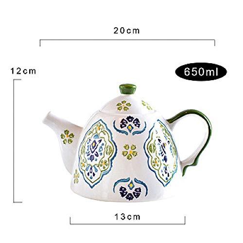 Handbemaltes Kaffeetassenset kleiner frischer Tee Teeset Früchteteeset Nachmittagstee Retro Becher Big Pot 650ml