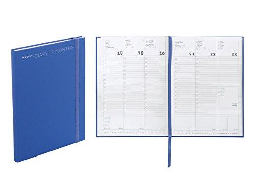 Agenda settimanale 18 mesi, cm 15 X 21 colore blue