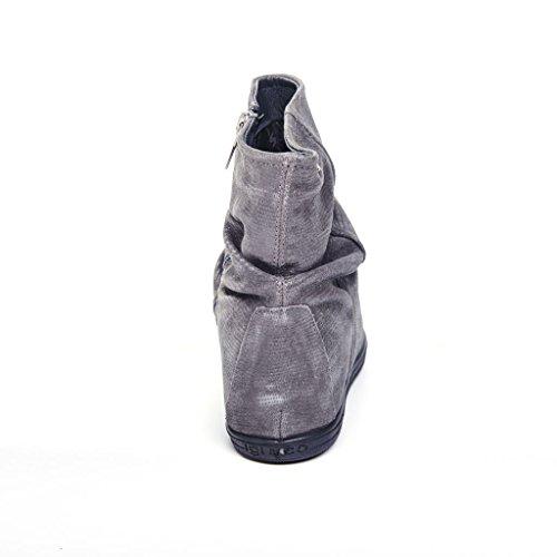 IGI&CO 67652 grigio scarpe donna stivaletti tronchetti zeppa interna zip Grigio
