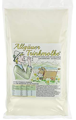 Pulver - Trinkmolke Molkepulver - Süßmolkepulver ohne Zusätze - Deutsches Naturprodukt aus bester heimischer Milch - Nachfüllpackung (2kg) ()