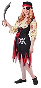 Bristol Novelty tc107a pirata Teen disfraz sangriento, para mujer, pequeño