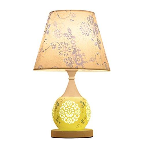 Keramik dekorative tischleuchte Modernes einfaches schlafzimmer bett lampe Wohnzimmer creative remote control switch Stoff-lampe