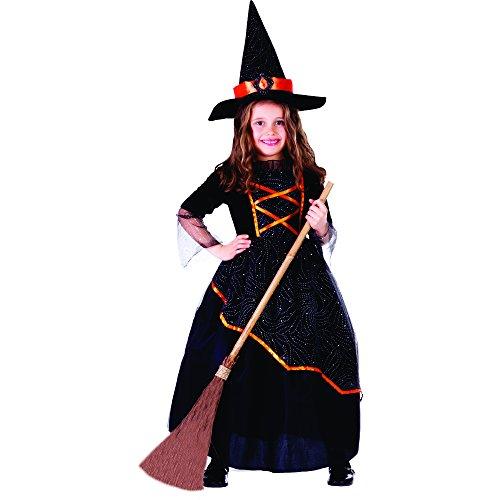 Dress Up America Kleines Mädchen schwarz und orange Hexe Kostüm