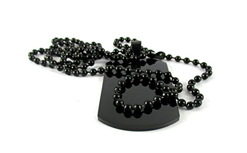 Streetsoul Black Gun Plated Pendant Stainless Steel Army Tag Necklace for Men -2 mm