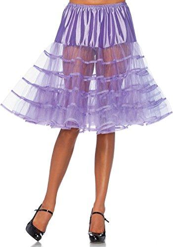 LEG AVENUE Damen Petticoat knielang Einheitsgröße(Violett)