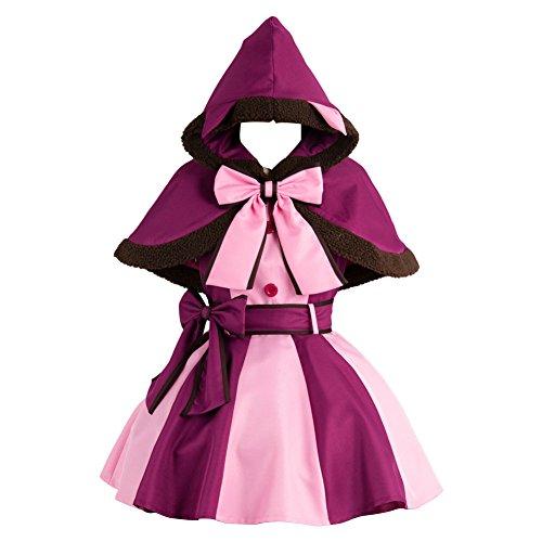 MingoTor Kleine Hexe Cat Kleid Cosplay Kostüm Lila Damen XS