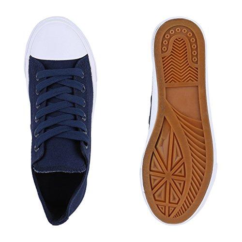 Damen Sneakers Sportschuhe | Sneaker Low Denim | Stoffschuhe Blumen Camouflage Dunkelblau Weiss Weiss