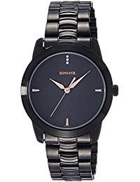 Sonata Analog Black Dial Men's Watch -NK7924NM01