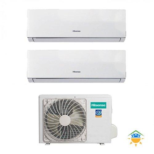 Aire acondicionado Climatizador Dual Split Inverter Hisense Comfort 9000+ 9+ 99000BTU A...