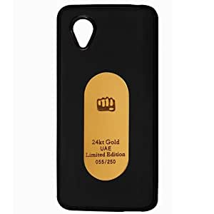 Casotec Metal Back TPU Back Case Cover for Micromax Bolt AD4500 - Black