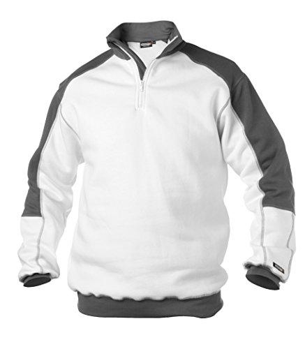 Preisvergleich Produktbild DASSY Sweatshirt BASIEL weiss / grau,  Weiß,  XXL