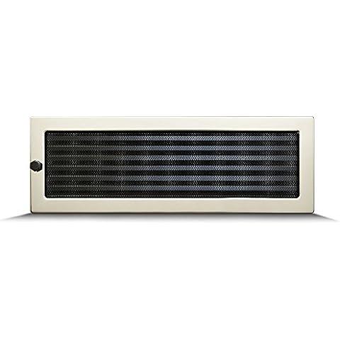 17 x 50cm Rejilla de lamas Aire rejilla ventilación Chimenea regulable - acero inoxidable - ACERO