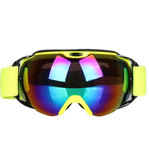 Sportsonnenbrille Jugendliche Skibrille Doppelt Anti Fog Khika Myopia Snow Blind Winddicht Sandbrille Ski Brille Yellow Damen Herren