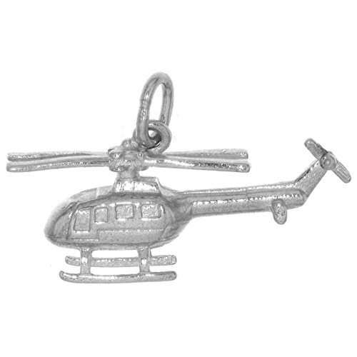 Derby Anhänger Hubschrauber Helikopter Flugzeug massiv echt Silber 23804